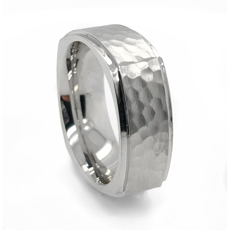 Lauray's Signature Collection Cobalt Chrome Squared Band