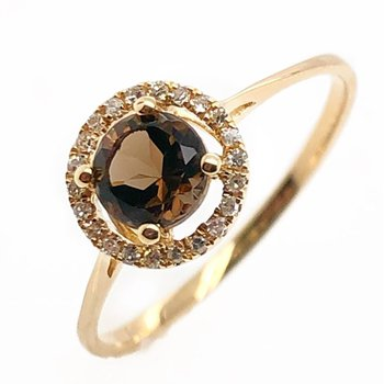 June Birthstone Smoky Quartz Ring