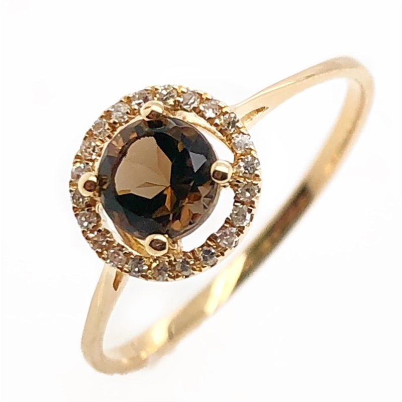 Lauray's Signature Collection June Birthstone Smoky Quartz Ring