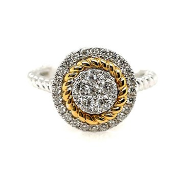 Two-Tone Diamond Fashion Ring