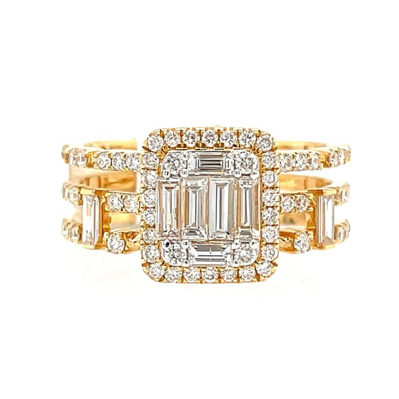 Lauray's Signature Collection Yellow Gold Diamond Fashion Ring