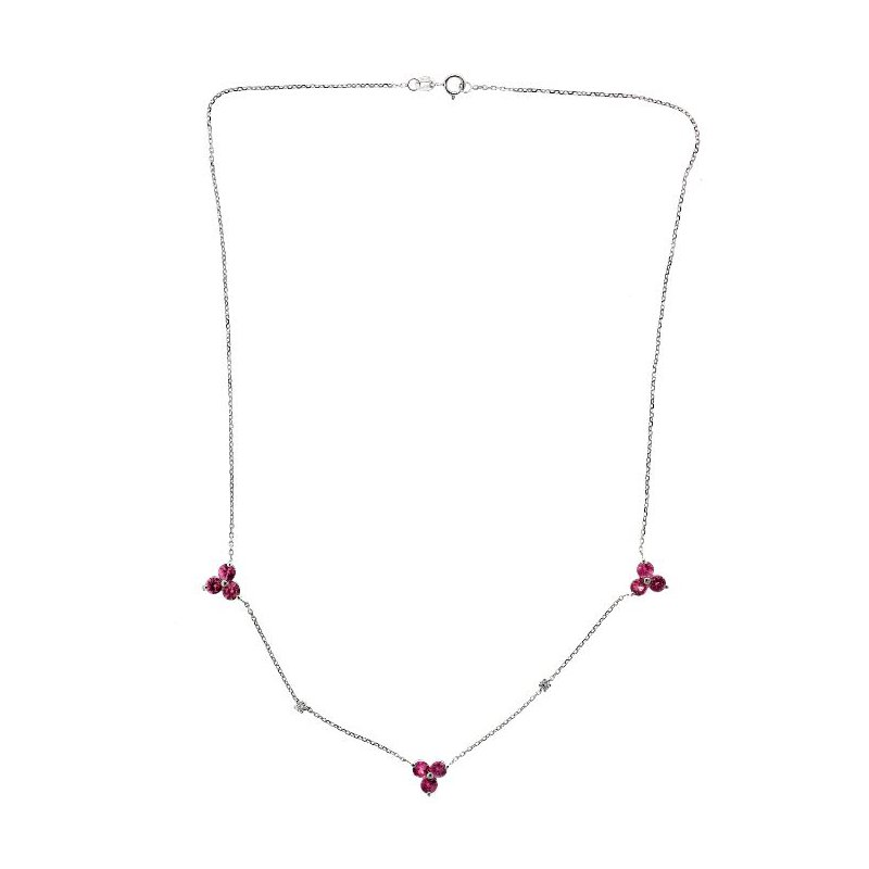 Lauray's Signature Collection Pink Sapphire and Diamond Necklace