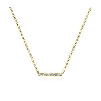 Petite Pave Diamond Bar Necklace