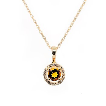 November Birthstone Citrine Necklace