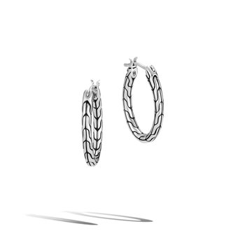 Classic Motif Small Oval Hoop Earrings