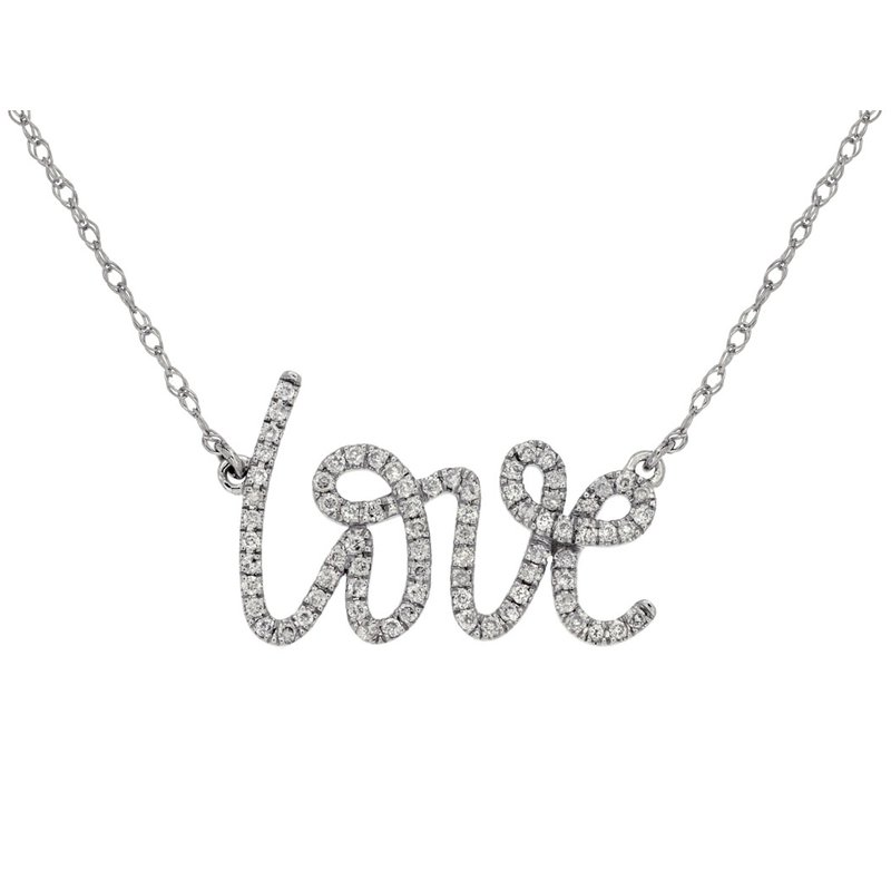 Lauray's Signature Collection Diamond Love Necklace