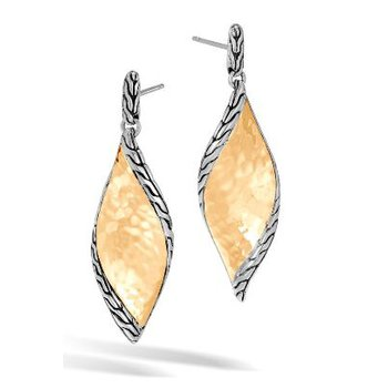 Wave Hammered Drop Earrings
