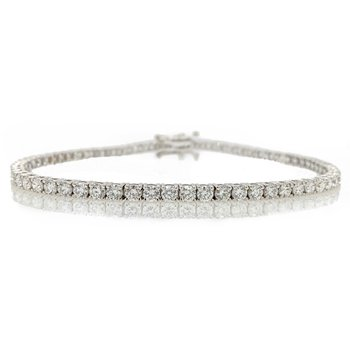 18K Diamond Tennis Bracelet