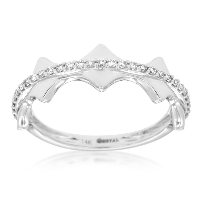 Lauray's Signature Collection White Gold Wedding Band