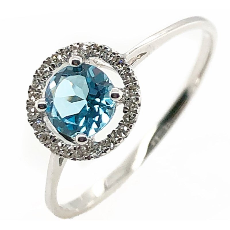 Lauray's Signature Collection December Birthstone Blue Topaz Ring