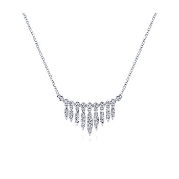 Graduating Diamond Bib Necklace