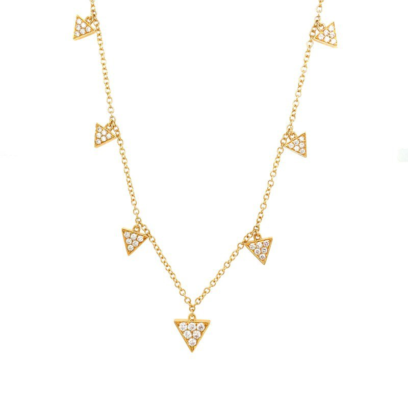 Lauray's Signature Collection Yellow Gold Diamond Necklace
