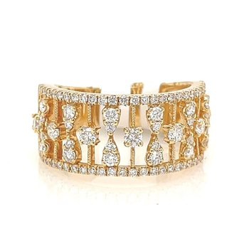 Yellow Gold Wide Fashion Ring