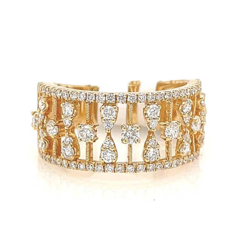 Lauray's Signature Collection Yellow Gold Wide Fashion Ring