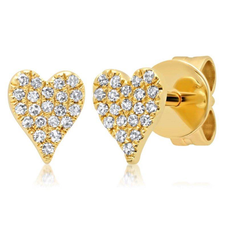 Shy Creation Diamond Heart Shaped Earrings