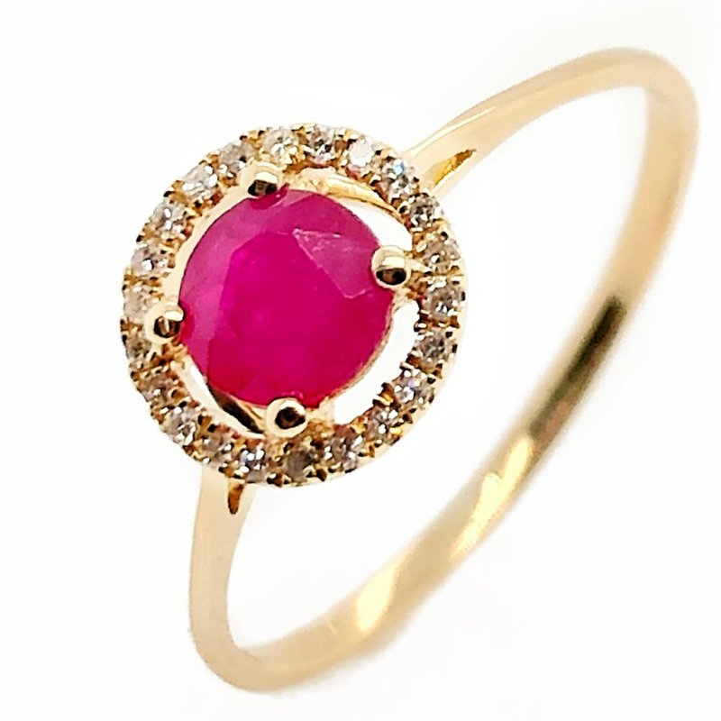 Lauray's Signature Collection July Birthstone Ruby Ring