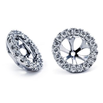 White Gold Diamond Ear Jackets