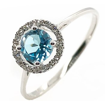 December Birthstone Blue Topaz Ring