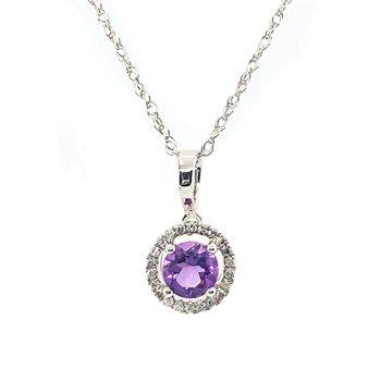 February Birthstone Amethyst Necklace