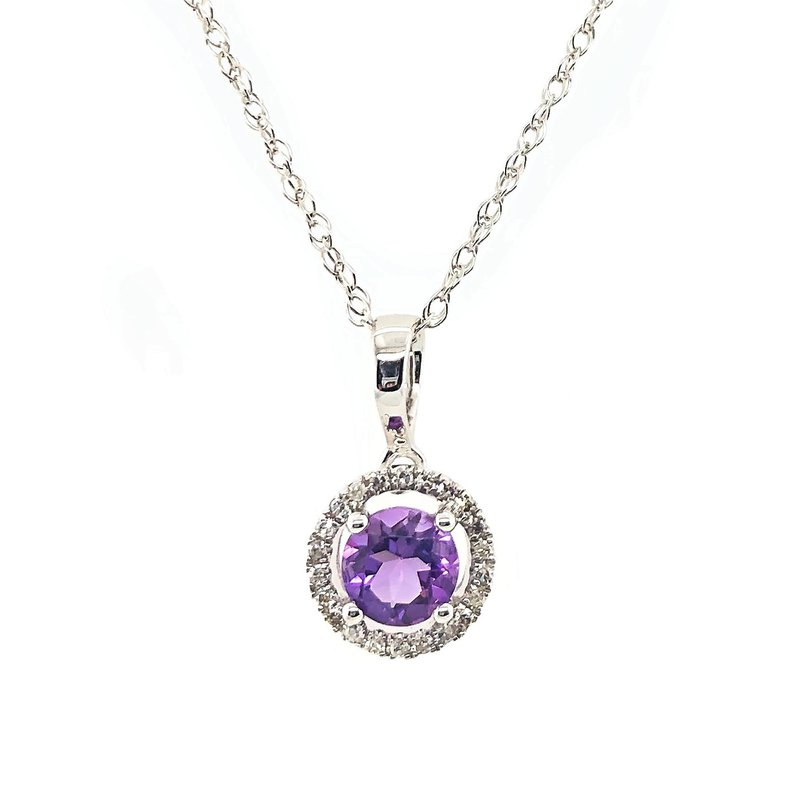 Lauray's Signature Collection February Birthstone Amethyst Necklace