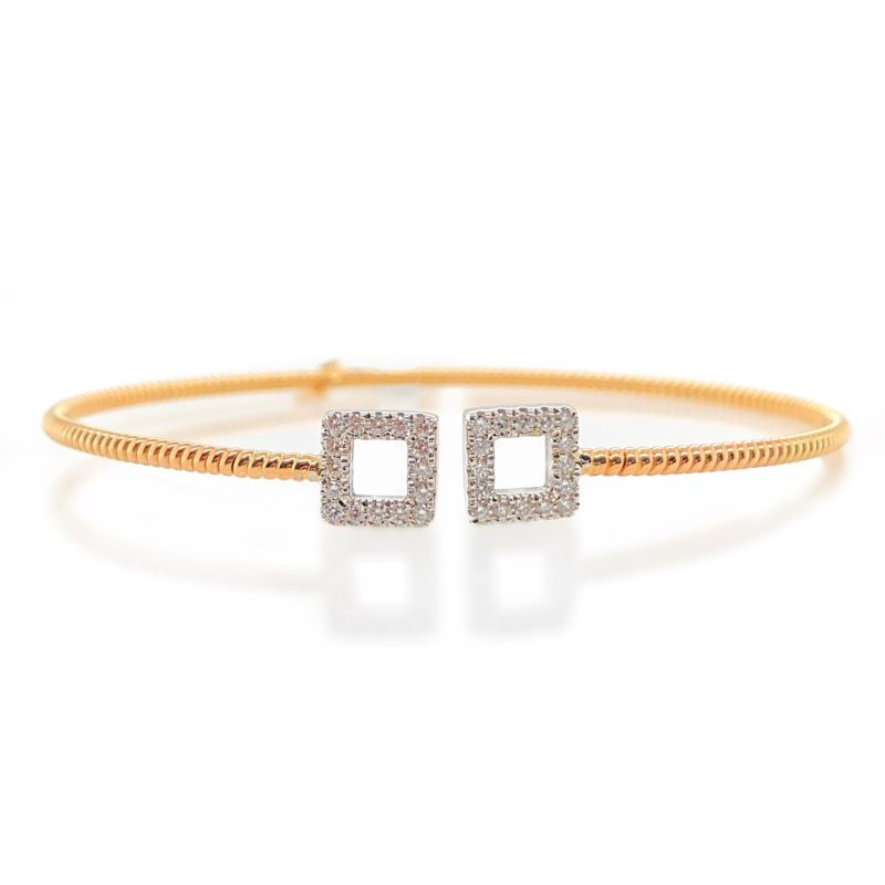 Lauray's Signature Collection Yellow Gold Flex Bracelet