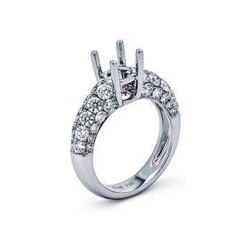 White Gold Diamond Semi Mount