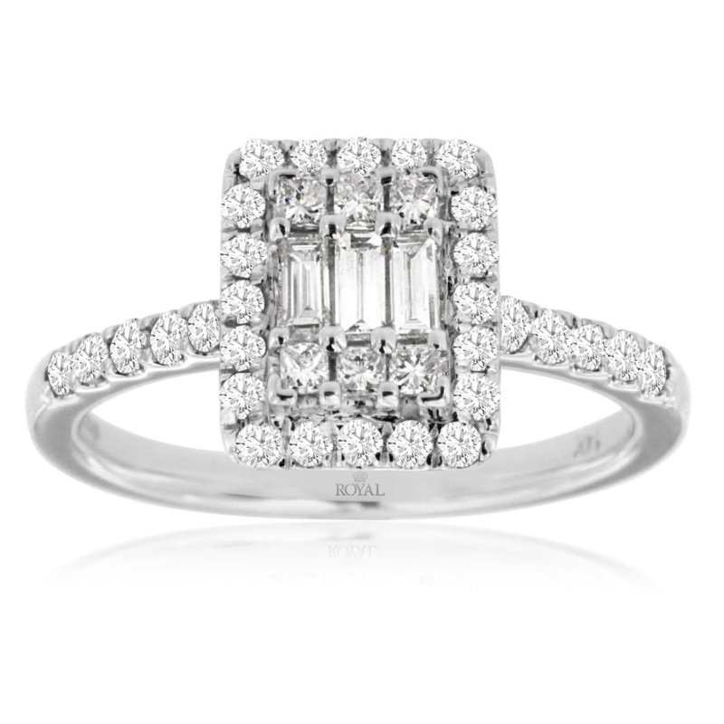 Lauray's Signature Collection White Gold Diamond Engagement