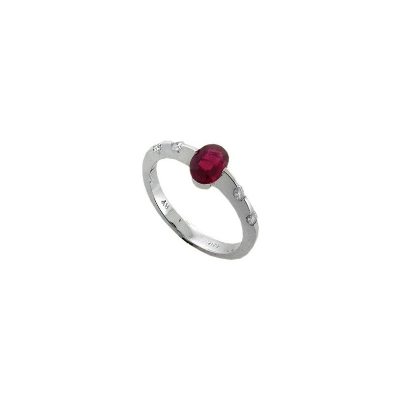 Lauray's Signature Collection White Gold Ruby and Diamond Ring