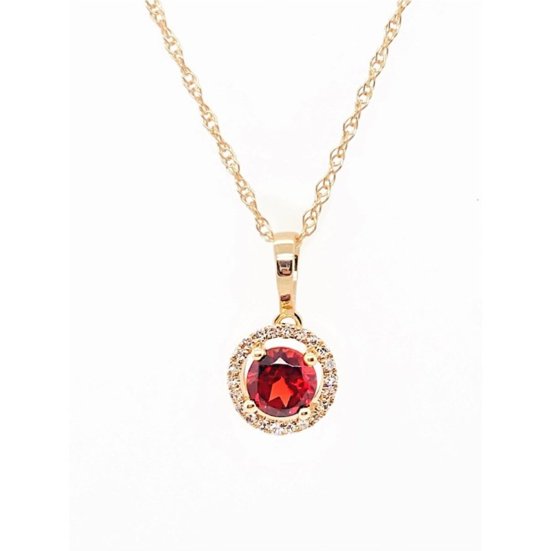 Lauray's Signature Collection January Birthstone Garnet Necklace