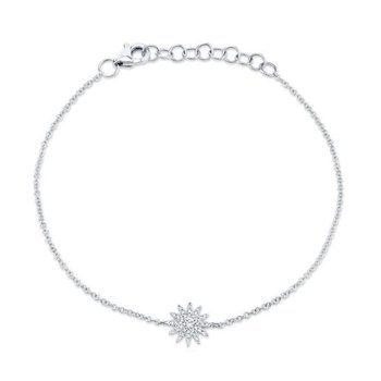 White Gold Starburst Bracelet