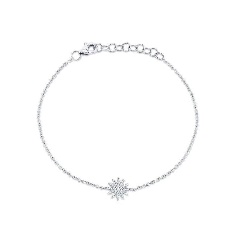 Shy Creation White Gold Starburst Bracelet