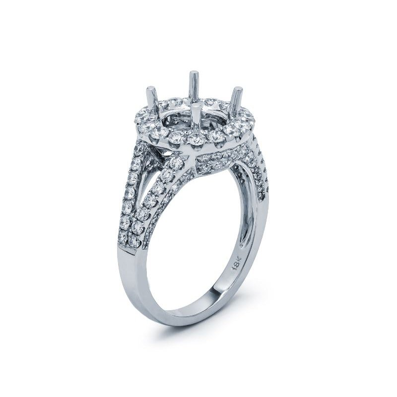 Lauray's Signature Collection White Gold Diamond Semi Mounting