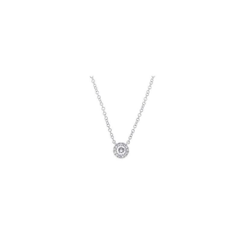 Shy Creation White Gold Diamond Necklace