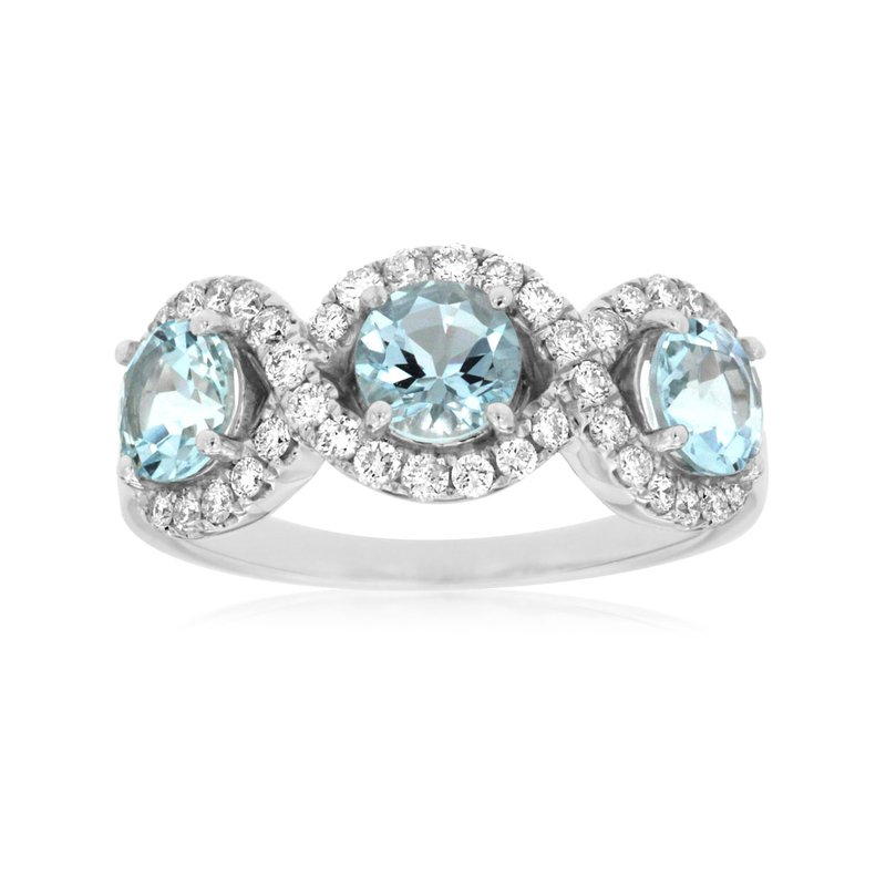 Lauray's Signature Collection White Gold Aquamarine Ring