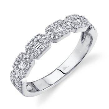 White Gold Diamond Baguette Ring