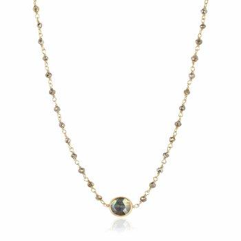 Pyrite and Labradorite Libi II Necklace