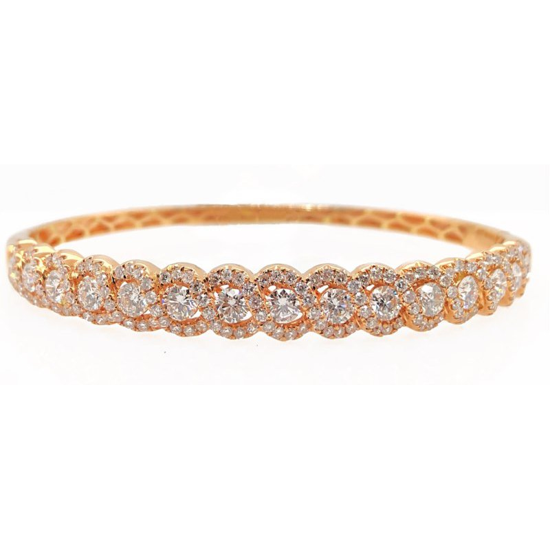 Lauray's Signature Collection Rose Gold Diamond Bangle