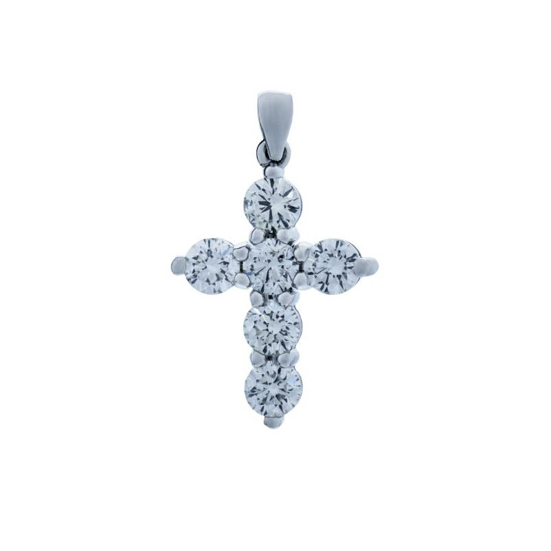 Lauray's Signature Collection White Gold Diamond Cross