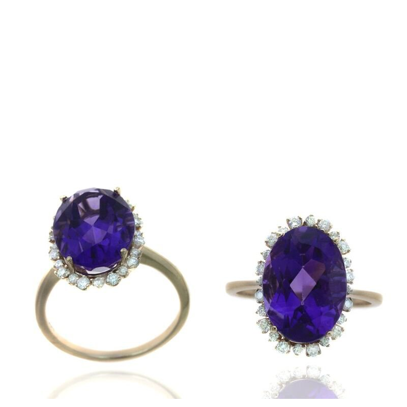 Lauray's Signature Collection Amethyst and Diamond Ring