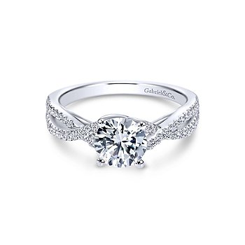 Round Twisted Diamond Engagement Ring Mounting