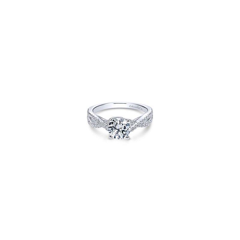 Gabriel Catalog Round Twisted Diamond Engagement Ring Mounting