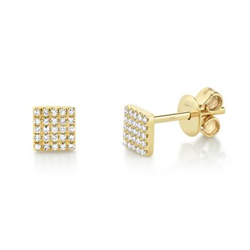 Diamond Square Stud Earring