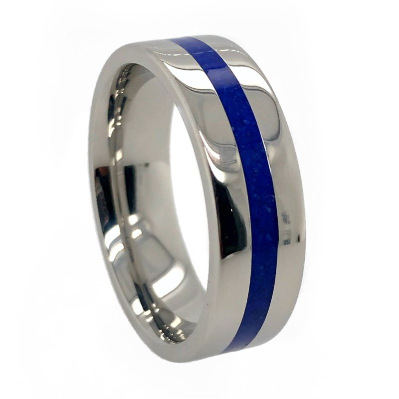 Lauray's Signature Collection Cobalt Wedding Band