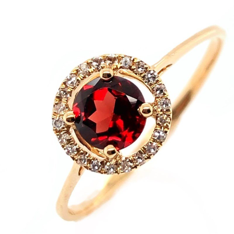 Lauray's Signature Collection January Birthstone Garnet Ring