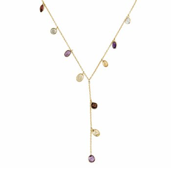 Multi Gemstone | Yaeli Necklace