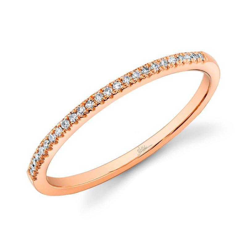 Shy Creation Rose Gold Diamond Wedding Band