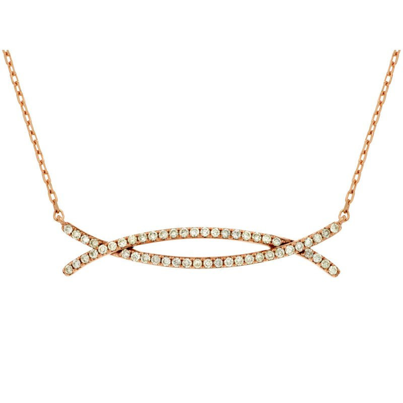 Lauray's Signature Collection Rose Gold Diamond Necklace
