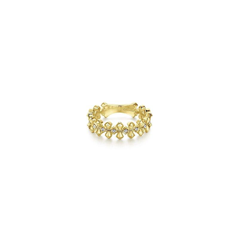 Gabriel Catalog Diamond Cross Band Ring