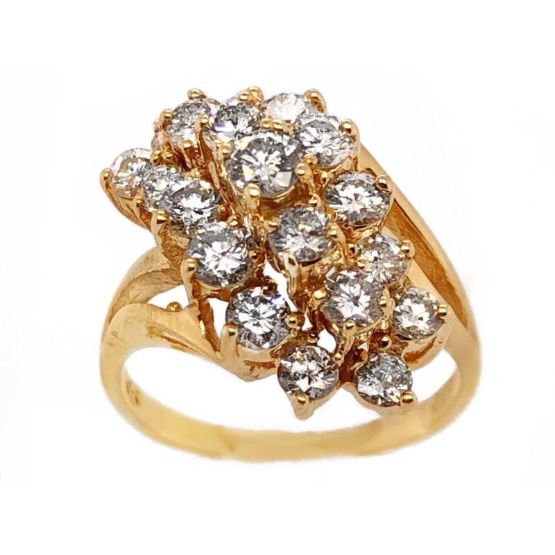 Lauray's Signature Estate Collection Yellow Gold Diamond Ring
