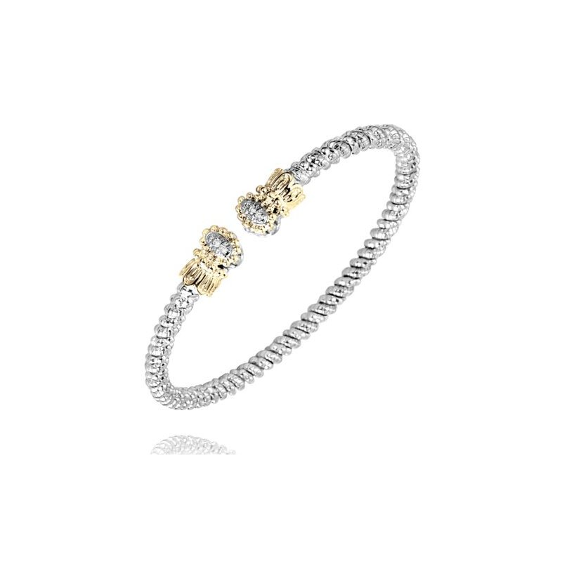 Alwand Vahan Yellow Gold and Sterling Silver Bangle Bracelet